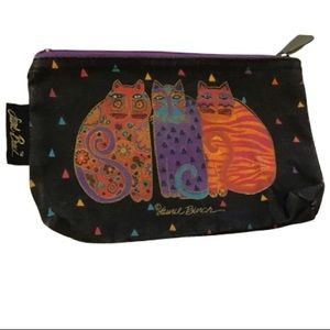 Laurel Burch vintage 80s cats makeup bag
